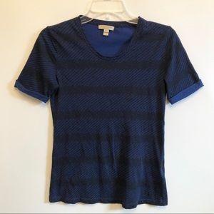 Burberry Brit Blue Black Printed Top Casual Shirt
